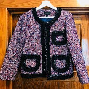J Crew Tweed Sequin Jacket - Size 4